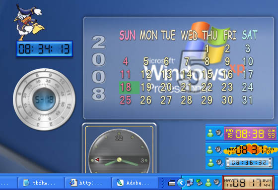 advanced replacement for Windows tray clock.